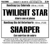 Todo A Ganador  - 3/08 - Palermo - Handicap Día del Veterinario - SHARPER inclina la balanza