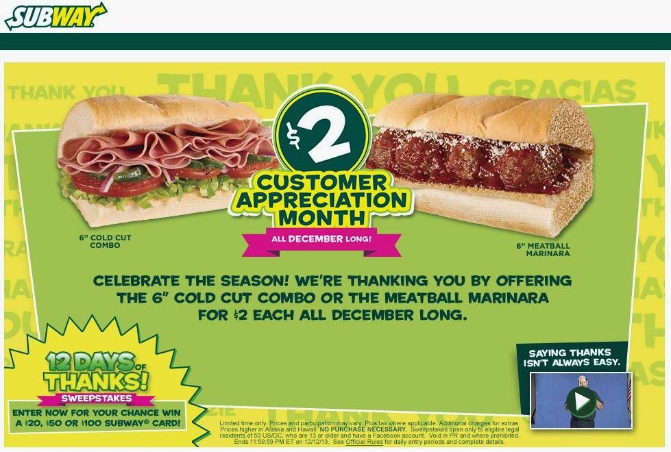 Subway coupon code