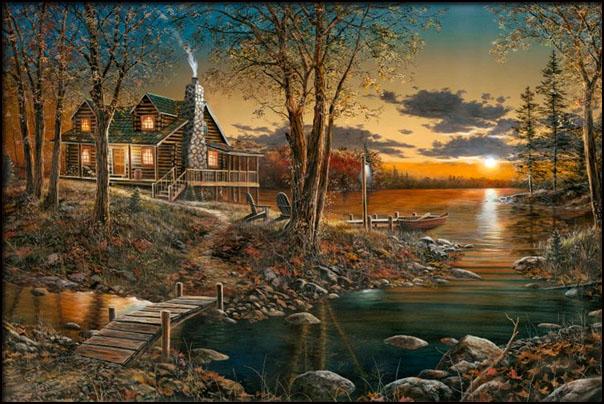 Jim Hansel 1960 Wildlife Landscape Painter Tutt Art