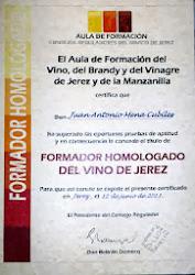 FORMADOR HOMOLOGADO DEL VINO DE JEREZ