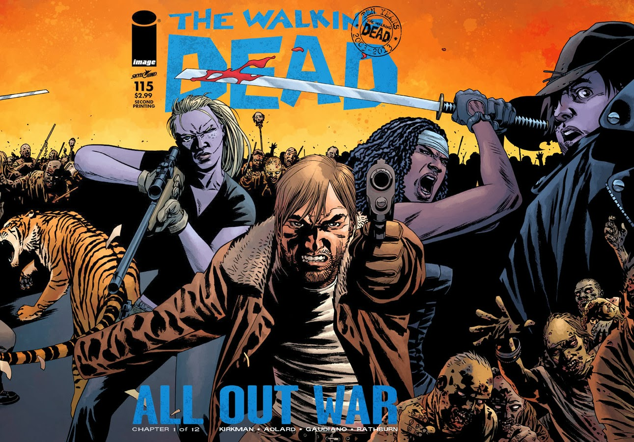 The Walking Dead #115: Second Printing Gatefold Cover Unveiled - Undead Monday