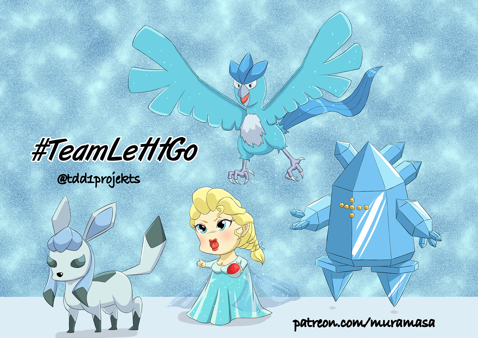 Chibi Elsa and Ice Pokemon #TeamLetItGo
