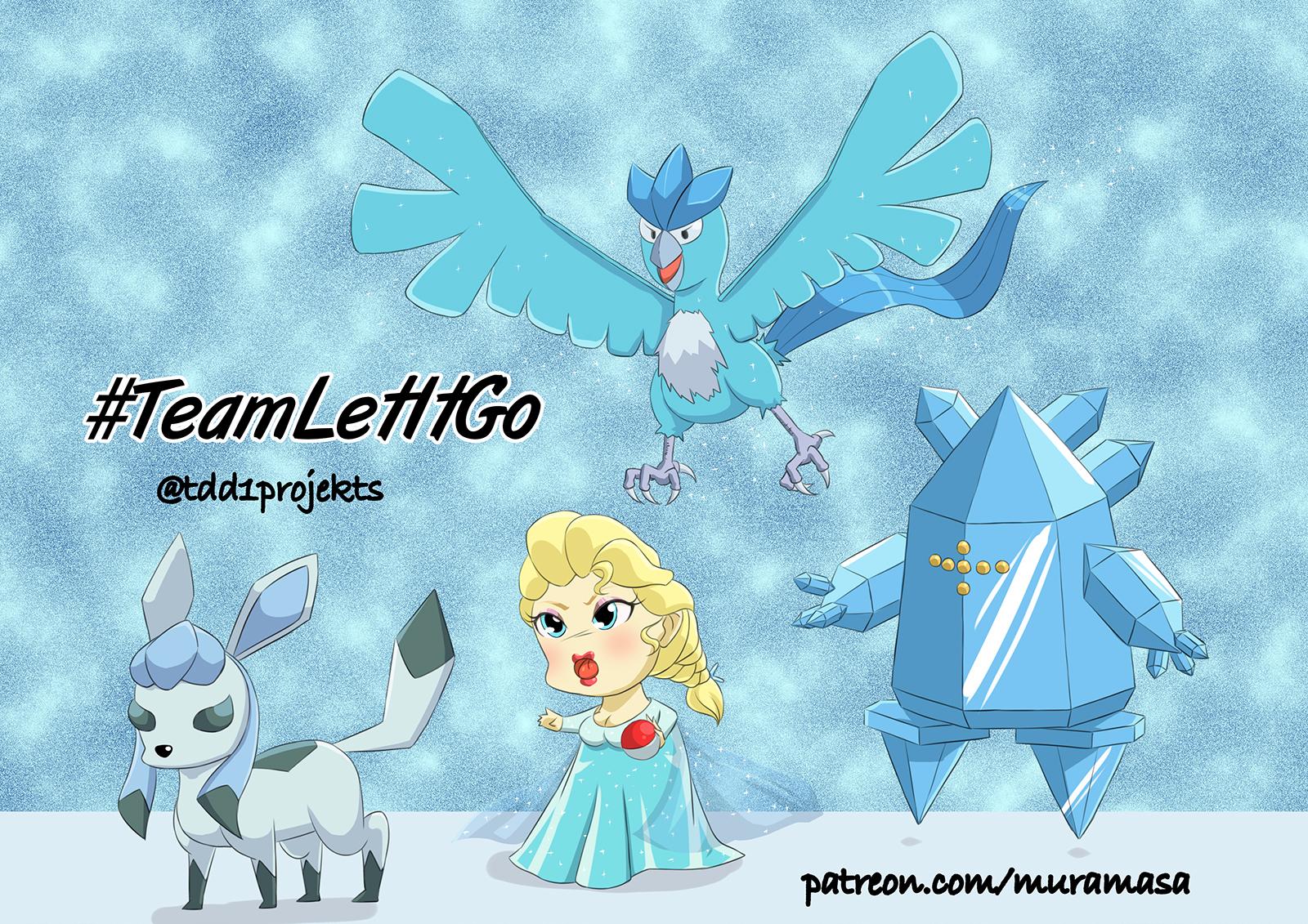 Chibi Elsa and Ice Pokemon #TeamLetItGo