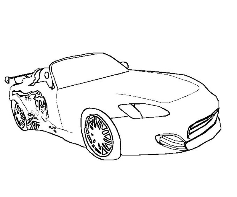 fast and furious people free colouring pages