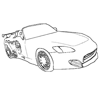 #2 Fast and Furious Coloring Page