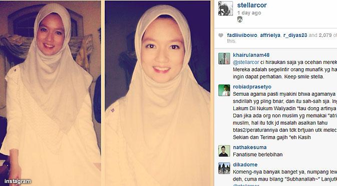Foto Stella JKT48 Berjilbab Busana Muslim, Cantik Dan Juga Menuai Kontroversi