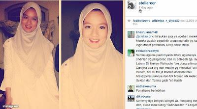 Foto Stella JKT48 Berjilbab