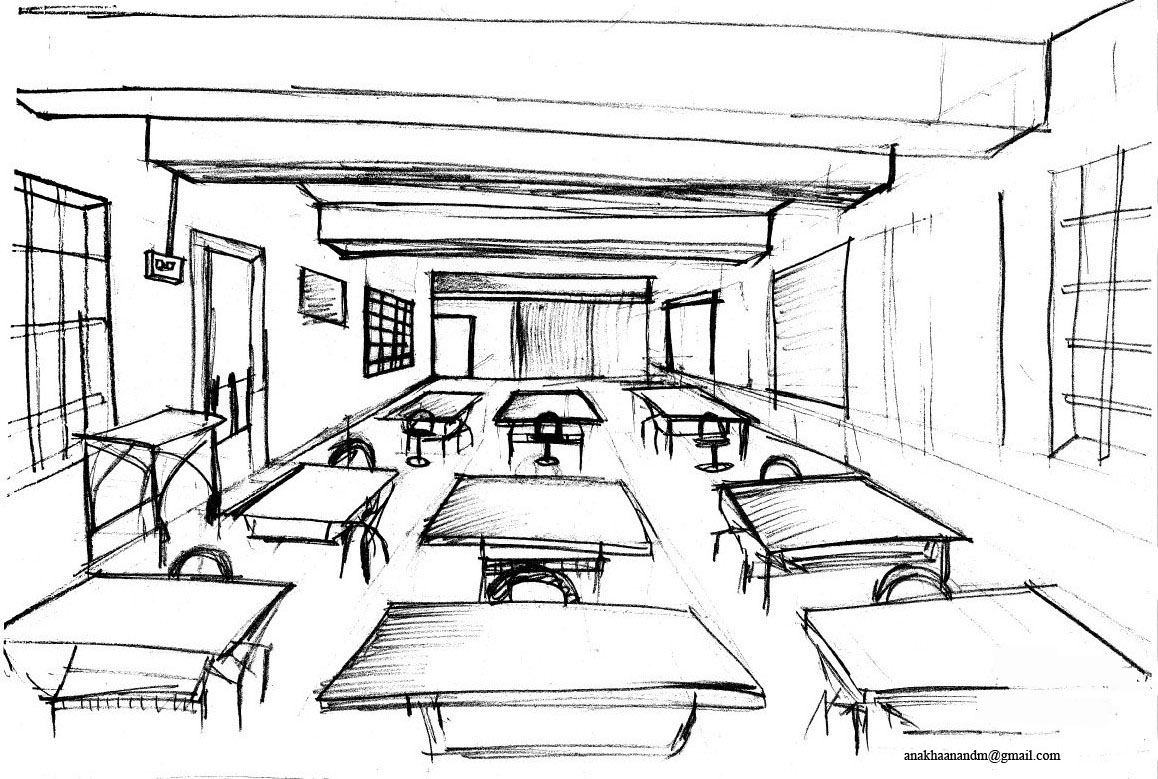 Classroom Design Sketch ~ Beauty that lies in the eye of creator perspective