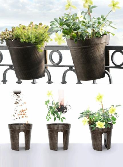 Jardiner a paisajismo macetas para colgar en el balc n - Macetas para balcones ...