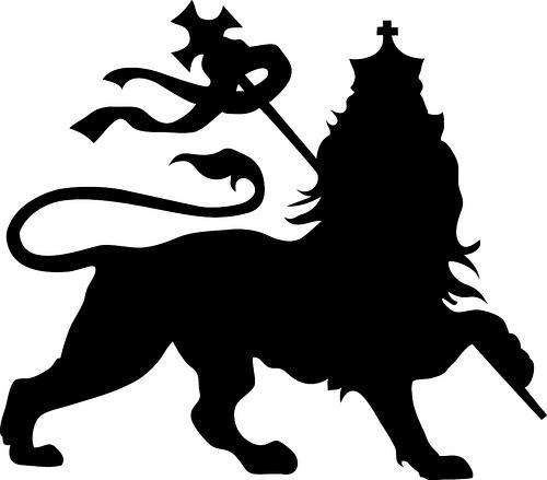 Rasta lion head stencil - photo#13