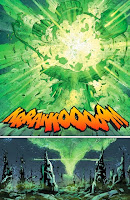 Relic's first attack destroys the central power battery on Oa in Green Lantern 24.