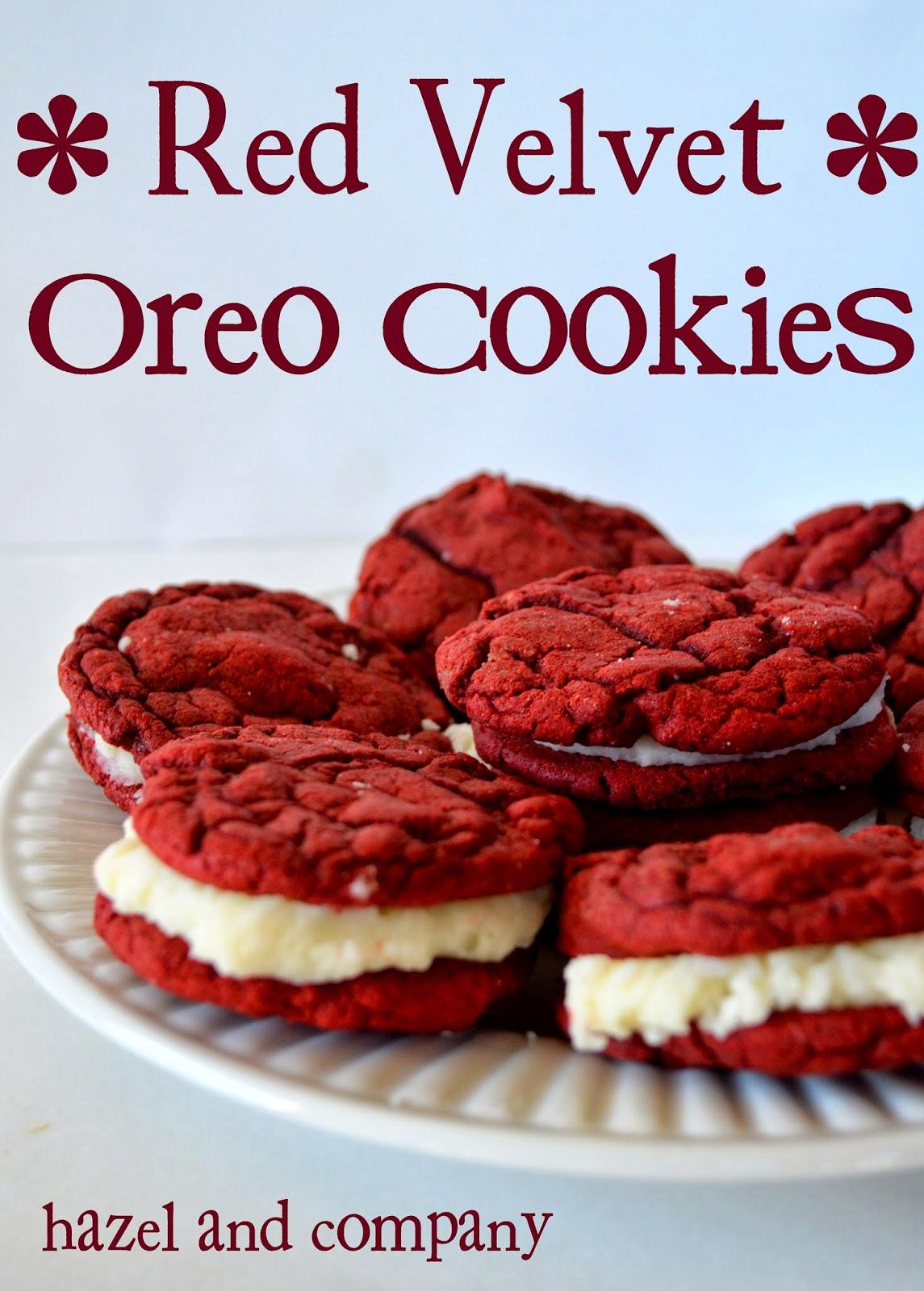 hazel and pany Red Velvet Oreo Cookies