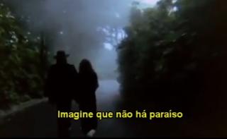 Imagem do clip da música Imagine, de Lennon