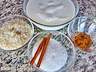 Orez cu lapte si scortisoara - toate ingredientele retetei
