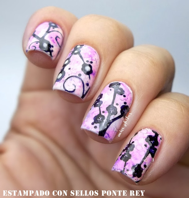 cherry tree nail art