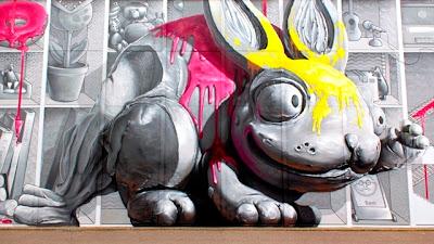 modern graffiti artist newercrew - modern art design street wall