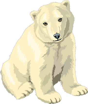 Cute cartoon polar bear cubs - photo#17