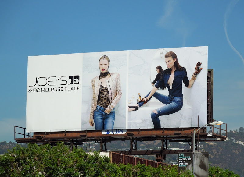 Joes Jeans Melrose Place store billboard