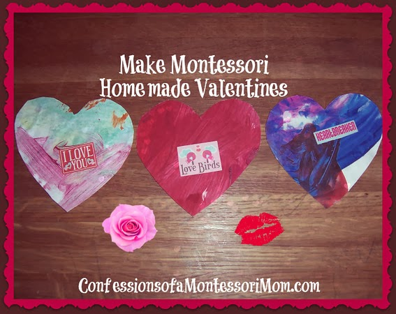 Make Montessori Homemade Valentines with Recycled Children's Artwork