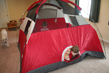 Preschool camping theme: Pitch the tent in the house!