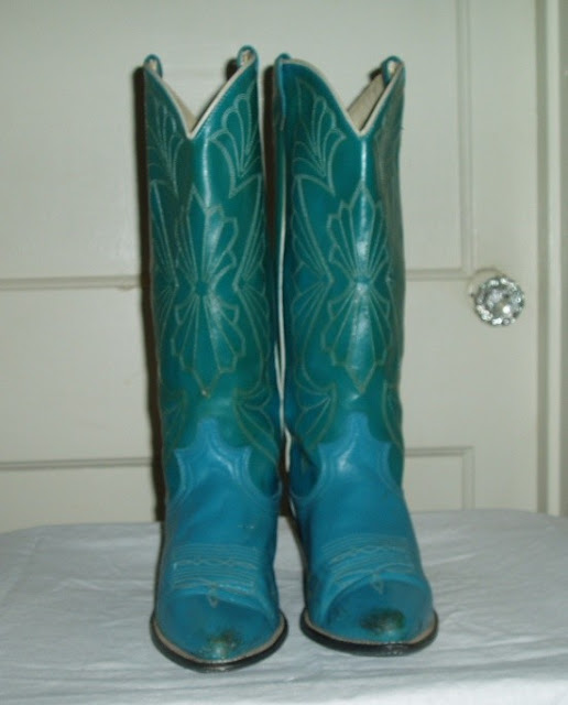 Cowboy Boots Teal3