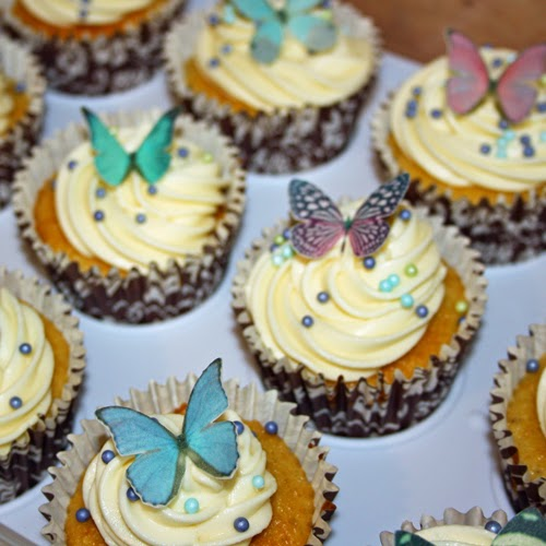 butterfly decorations on cupcakes