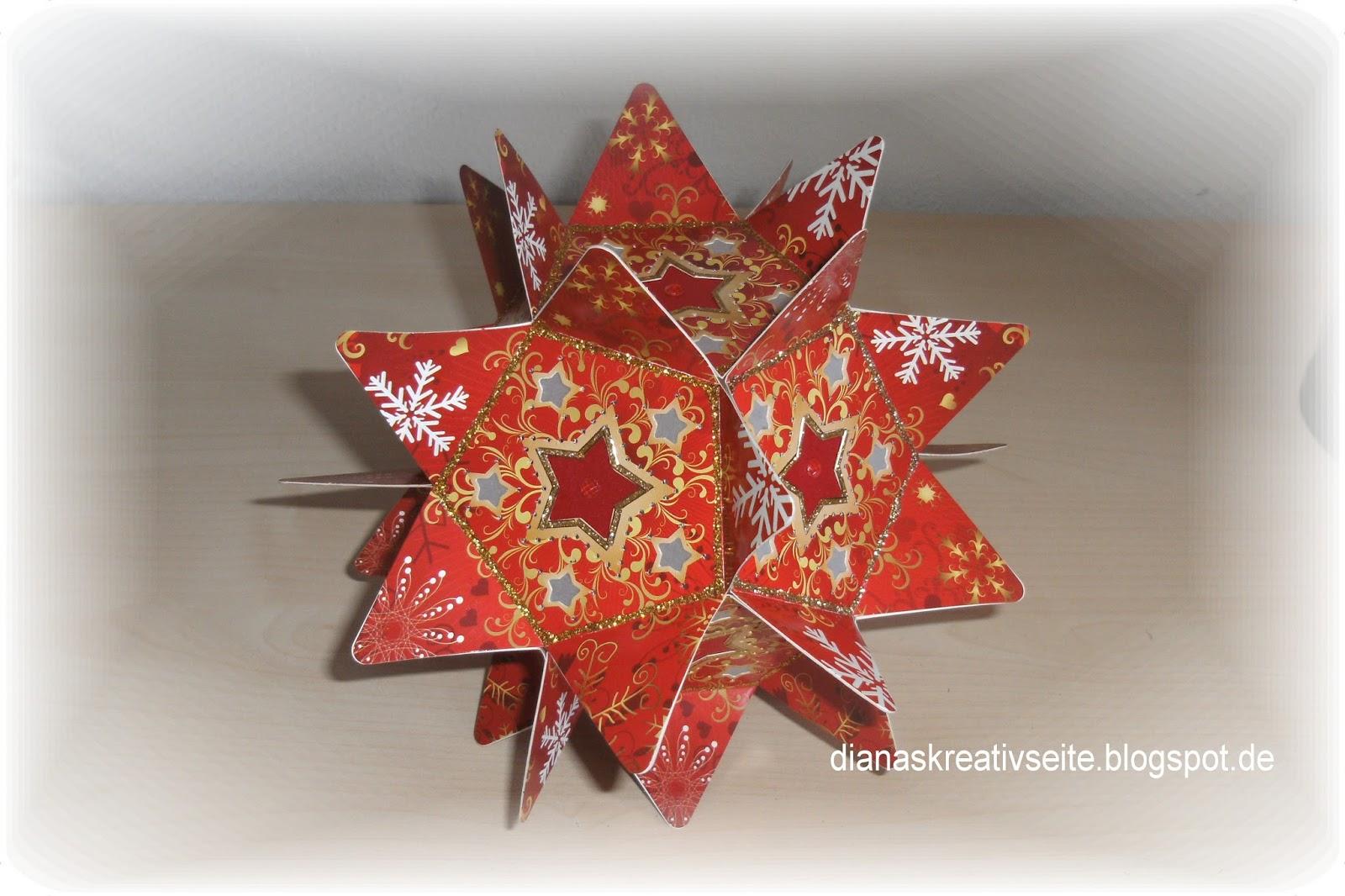 dianas kreativseite roter weihnachtsstern. Black Bedroom Furniture Sets. Home Design Ideas