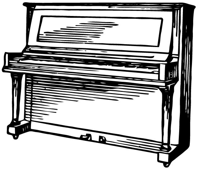 Ephemeraphilia Free Vector Art Upright Piano