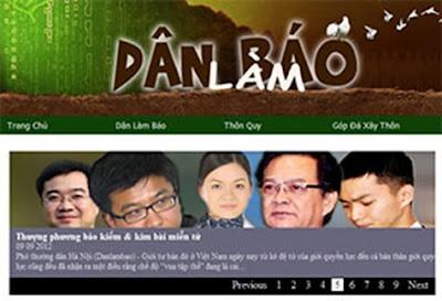 Giao diện trang blog Dân Làm Báo ngày 12/09/2012.