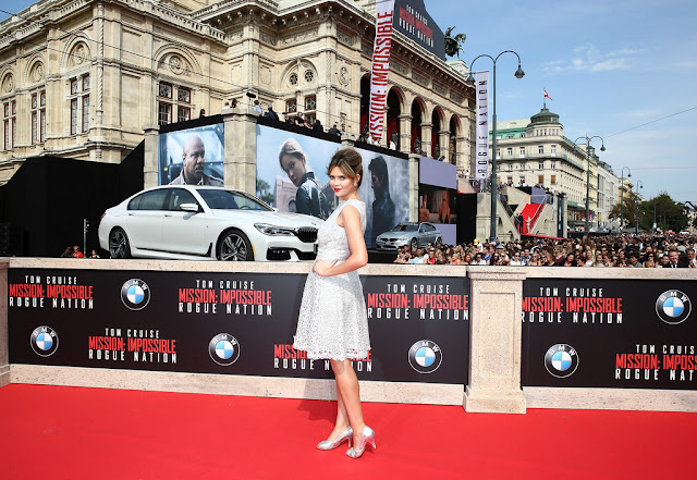 Television Presenter, Actress @ Carly Steel - world premiere of 'Mission: Impossible - Rogue Nation' in Vienna