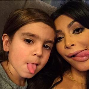 Disick eyebrows mason Kourtney Kardashian