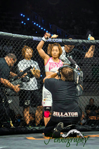 Bellator 21 Megumi Fujii defeats Sarah Schneider at Seminole Hard Rock Hotel & Casino in Hollywood, Florida on June 10, 2010. Photo: Jeremy Penn / Pennography  NIKON D90 82 1/250, 2.8, 1000