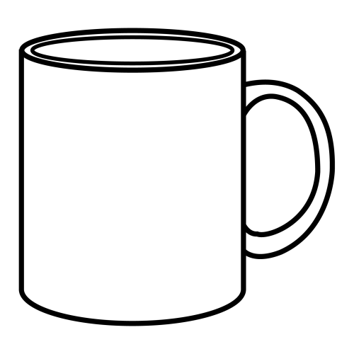 Free coloring pages of coffee mug for Cocina dibujo