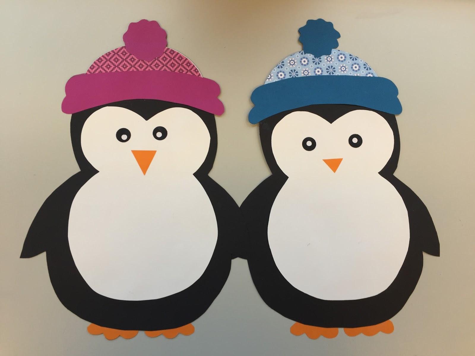 Klassenkunst fensterdeko pinguin freebie - Schlitten basteln pappe ...