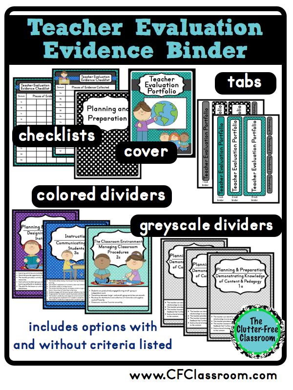 Clutter-Free Classroom: Organizing Teacher Evaluation Evidence ...