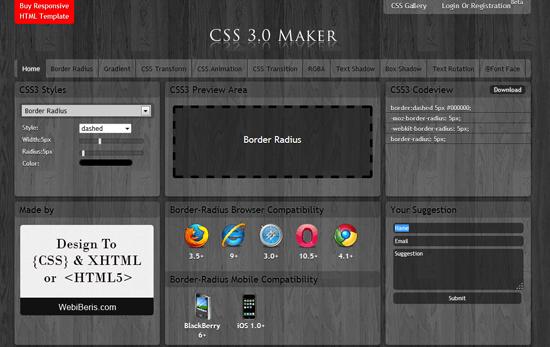 CSS3.0 Maker for CSS blogspot