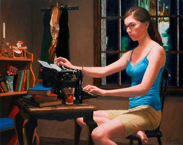 women portraits painting by Charles Pompilius