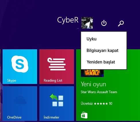 Windows 8.1 Update 1 Metro Ekranı Kapatma Tuşunu Kaldırma
