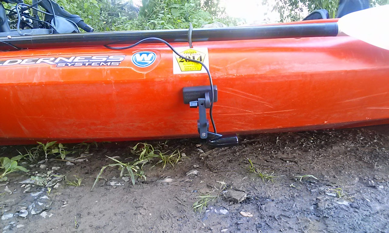 Fish finder and transducer mounting solutions a new for Fish finders for kayaks