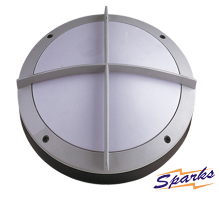 Round Bulkhead with impact guard, the TPC2121 IP65 silver bulkhead