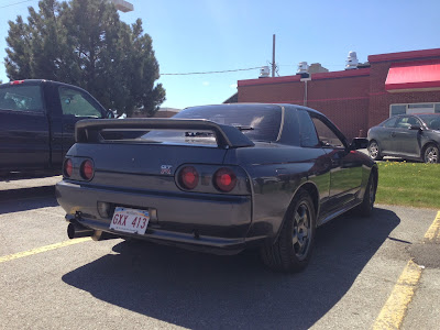 Rear Side of Grey 1989 Nissan Skyline GTR R32 Imported to America