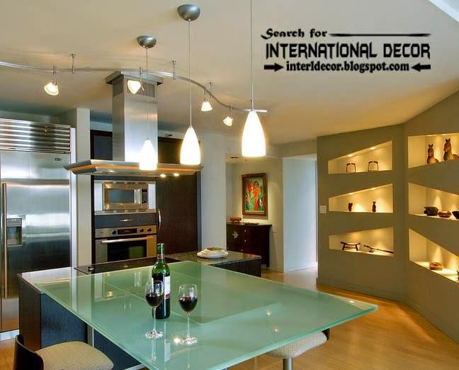 Stylish built in shelves corner shelves of plasterboard