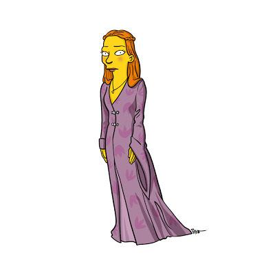 Sansa  los simpsons - Juego de tronos en los siete reinos