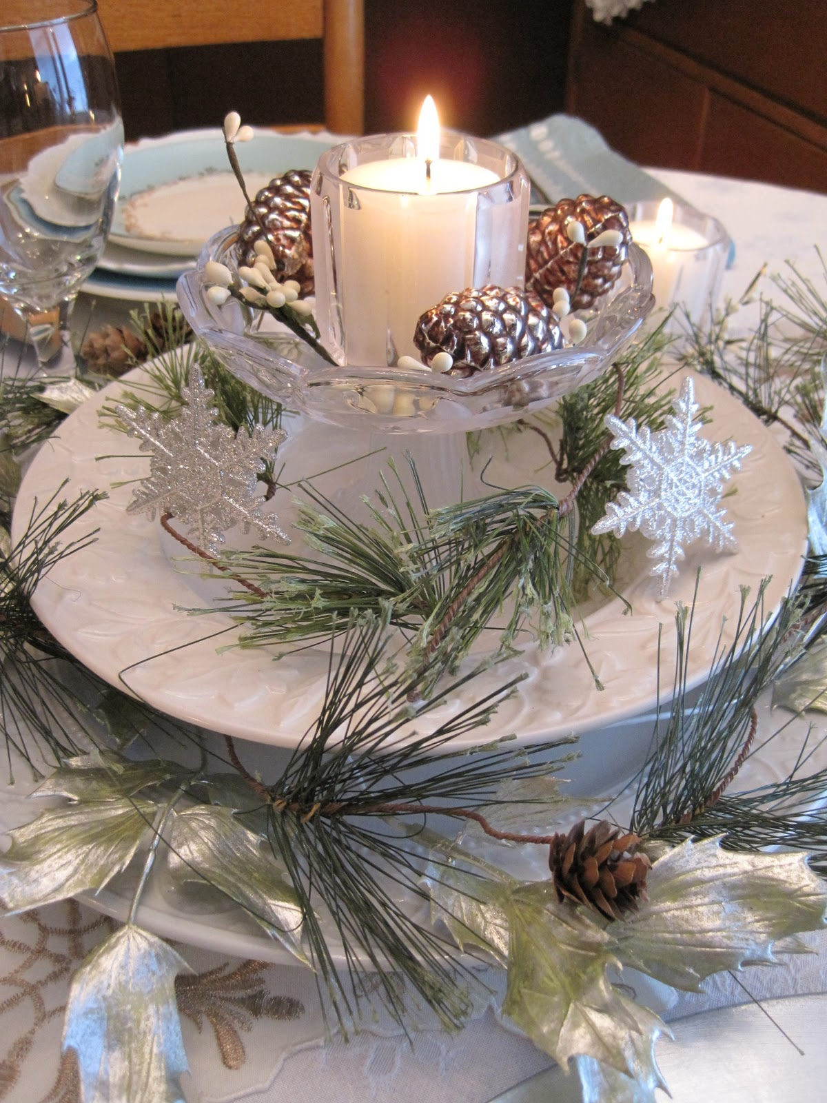 On crooked creek winter wonderland tablescape