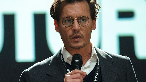 johnny depp as will caster in transcendence movie