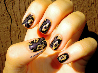 tribal ikat nails mani
