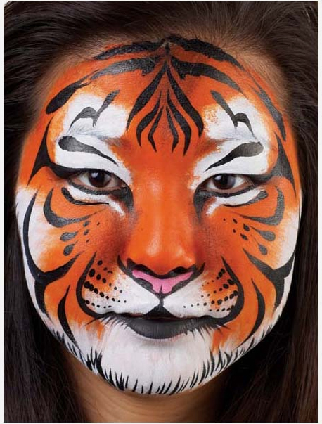 Easy tiger face paint - photo#21