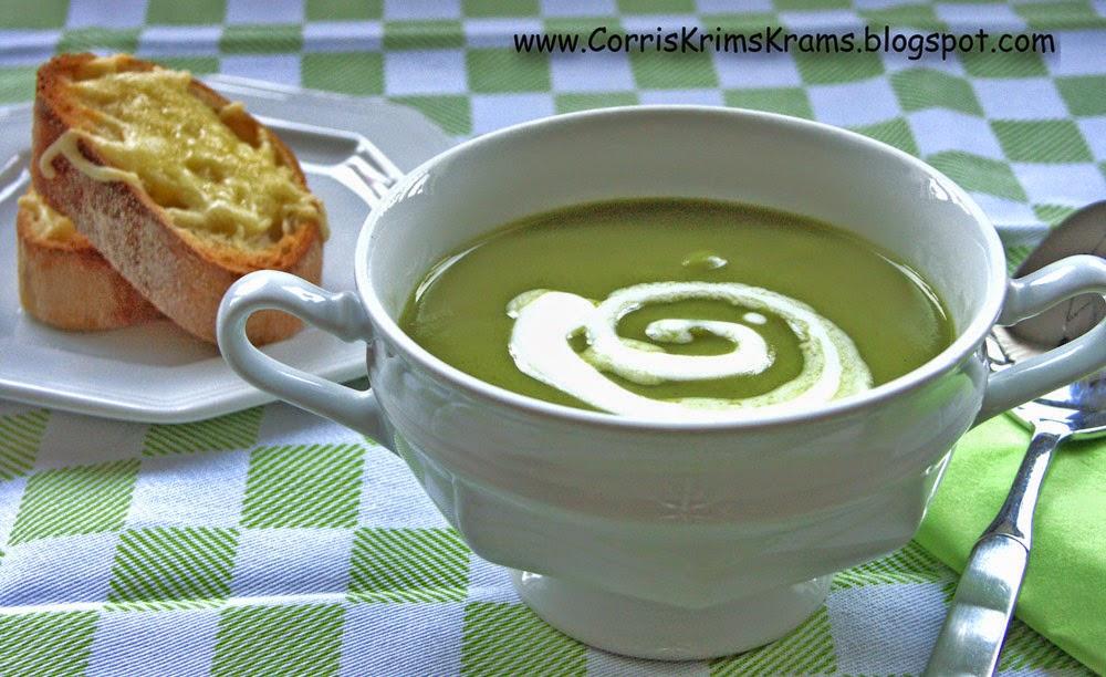 Suppe, Broccoli, Käsecroutons, Menü