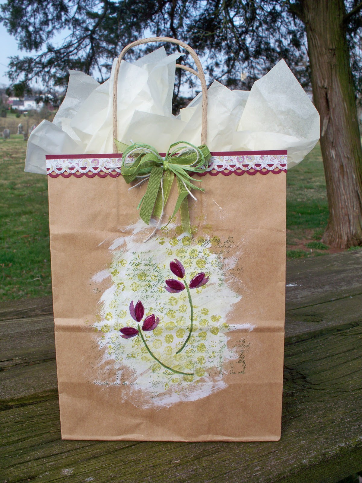 Eclectic paperie decorate a gift bag