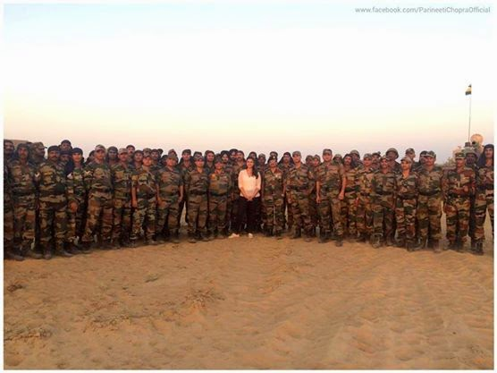 Parineeti Chopra with jawans past 2 days shooting Jai Jawan with NDTV